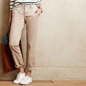 Pilcro hyphen embroidered chinos Anthropologie